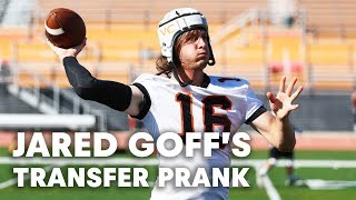 Download NFL QB Jared Goff Pranks Unsuspecting College Football Team Video