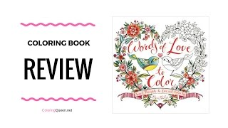 Download Words of Love to Color - Sweet Thoughts To Live & Color By Eleri Fowler Video