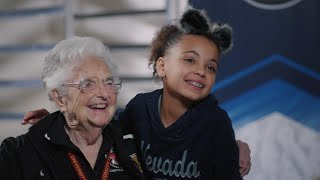 Download Loyola's Sister Jean answers the tough questions from Nevada's Mariah Musselman Video