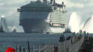 Download Raw Video: World's Largest Cruise Ship Video