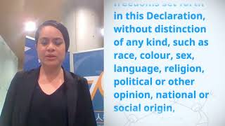 Download Malia Hola, Tonga, reading article 2 of the Universal Declaration of Human Rights Video