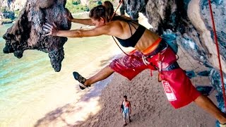 Download Climbing Beauty and the Beast Tonsai - Jump to a stalactite Video