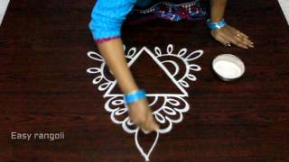 Download free hand rangoli designs with out dots || simple kolam designs with out dots || muggulu designs Video