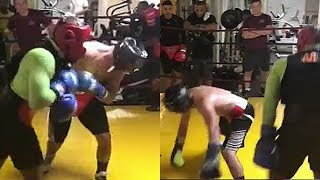 Download (WOW!!!) ADRIEN BRONER DROPS SPARRING PARTNER IN SAVAGE BEATDOWN; SAYS ″CAN-MAN IS BACK″ FOR GARCIA Video