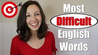Download Pronounce 33 MOST DIFFICULT English Words Video