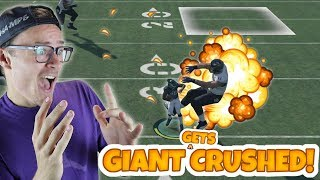 Download 40 FOOT GIANT GOES FLYING AFTER HUGE TRUCK LOL!! Madden 18 Gauntlet Video