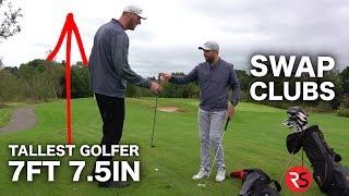 Download I swap golf clubs with the TALLEST GOLFER IN THE WORLD (7ft 7.5in) Video