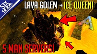 Download LAVA GOLEM & ICE QUEEN BOSS + DROP HUNTING!   5-Man PvP Servers! - Ark: Survival Evolved Video