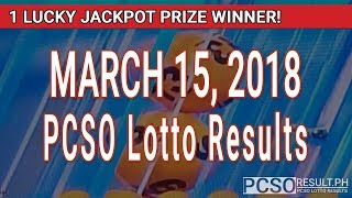Download PCSO Lotto Results Today March 15, 2018 (6/49, 6/42, 6D, Swertres, STL & EZ2) Video