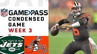 Download Jets vs. Browns | Week 3 NFL Game Pass Condensed Game of the Week Video