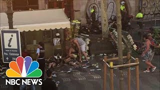 Download Van Crash In Barcelona, Multiple People Injured | NBC News Video