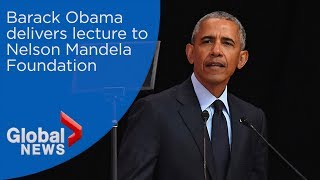 Download Barack Obama marks Nelson Mandela's 100th birthday Video