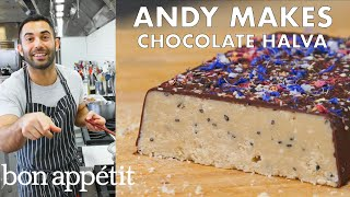 Download Andy Makes Salted Chocolate Halva | From the Test Kitchen | Bon Appétit Video