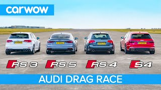 Download Audi RS5 vs RS3 vs S4 vs old RS4: Drag Race *Closer than you think* Video