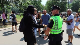 Download Boston 'Free Speech' Rally and Counter Protest. Love Is All We Need. Video