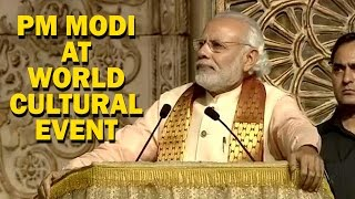 Download PM Narendra Modi Full Speech at Sri Sri Ravi Shankar's Event Video