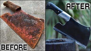 Download Rusted BUTCHER's CLEAVER - Unbelievable Restoration Video