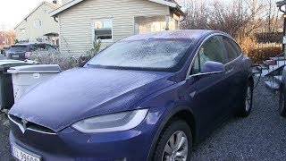 Download Tesla Model X with frost, what fails to operate? Video