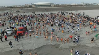 Download 2020 Polar Bear Plunge in Wildwood - 4K DRONE FOOTAGE Video