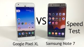 Download Google Pixel XL vs Samsung Galaxy Note 7 - Speed Test Video