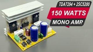 Download 150 Watts Mono Amplifier Board DIY with 2sc5200, 2sa1943 & TDA7294 ( Hindi ) ELECTRO INDIA Video