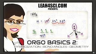 Download sp3 Hybridization and Bond Angles in Organic Chemistry Basics 2 Video
