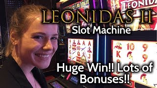 Download Leonidas 2 Slot Machine Huge WIn!!! Incredible run of BONUSES!!! Video