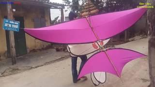 Download Test diều sáo 2m60 cực đẹp cho khách cùng bộ còi D40 nải vải sơn ta, fly a kites, phương pv Video