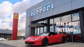 Download Ferrari Dealership asked me to bring my Rebuilt 458 in for Maintenance... Video