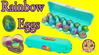 Download Shopkins Season 5 Petkins Blind Bags + Surprise Rainbow Goo Egg Carton Unboxing - Cookieswirlc Video