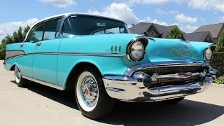Download 1957 Chevrolet 4 Door Bel Air For Sale Video