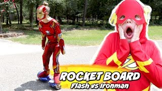 Download The Rocket Board: Flash vs Ironman Race Pranks Edition Video