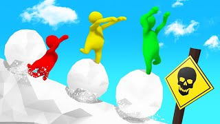 Download BALANCE On The SNOWBALL Or DIE! (Human Fall Flat) Video