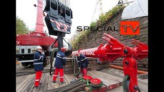 Download 355-tonne Railway bridge installed by Riga Mainz with Liebherr LR 1600-2. Video