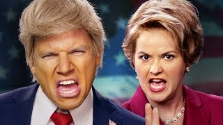 Download Donald Trump vs Hillary Clinton. Epic Rap Battles of History. Video