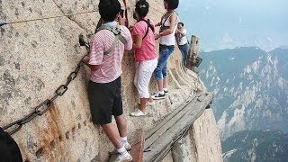 Download World's Most Dangerous Hiking Trail on Mount Huashan Video