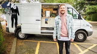 Download STEALTH SPRINTER VAN TOUR // Young Man Chooses Vanlife to Save Money and Travel. Video