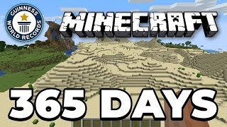 Download Fly around the world in minecraft 1 YEAR (World Record) Video