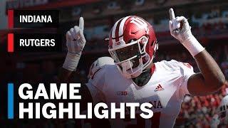 Download Highlights: Indiana at Rutgers | Big Ten Football Video