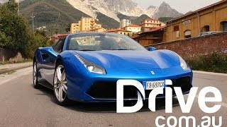Download 2016 Ferrari 488 Spider Review In Italy | Drive.au Video