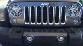 Download LED Halo Headlight Upgrade on a Jeep JK Video