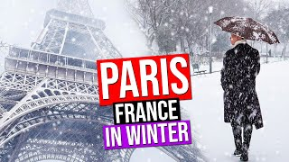 Download PARIS IN WINTER under the SNOW | France (Snowfall in Paris) Video