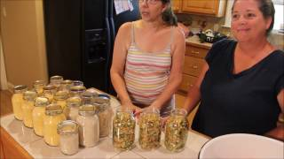 Download Dehydrating & vacuum sealing at Deep South Homestead Video