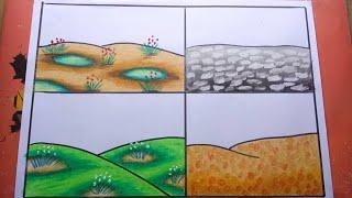 Cara Menggambar Dan Mewarnai Pemandangan Pantai Sangat Mudah Free