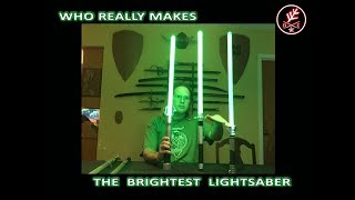 Download But who really makes the brightest lightsaber and by how much? Video