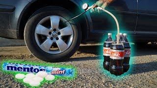 Download We Put COKE & MENTOS In a TIRE! Video