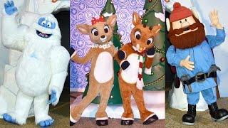 Download Rudolph, Clarice, Bumble & Yukon Cornelius Meet us at Rudolph's ChristmasTown, SeaWorld Orlando Video