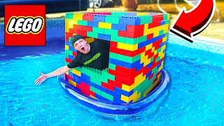 Download BUILDING A GIANT LEGO BOAT ON WATER! Video
