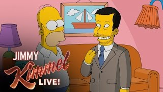 Download Homer Simpson Gives Jimmy Kimmel a Tour of Springfield Video