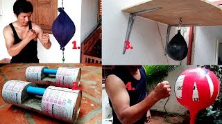 Download 4 Awesome Homemade Double-End Bag. Dumbbell. Speed Bag. Standing Punching Bag. Video
